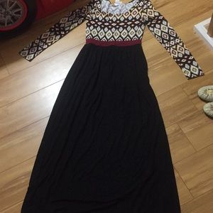 Adorable maxi rayon dress